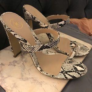 Shoes - SNAKESKIN TOE SANDALS SZ 10